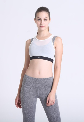DEVI grey and white Stylish Layered Bra Top With Mesh Outer 0BB15US61C1135GS_1