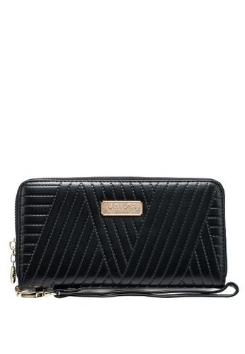 Unisa black Debossed Ladies Zip-Around Wallet 78D25AC8C2197BGS_1