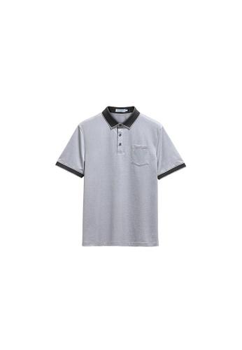 Goldlion grey Goldlion Regular Fit Polo Tee 1D0D6AA4218761GS_1