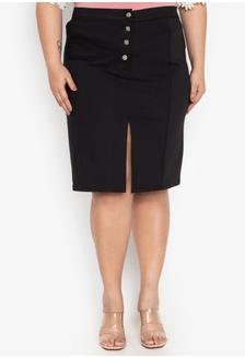 bdb9a812807 Plus Size Skirt Pencil Stretch Twill 8233DAA95C5F0CGS 1