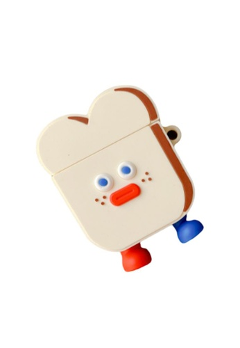 Kings Collection white White Toast Airpods Case (KCAC2094) 837A7ACB0AE49AGS_1