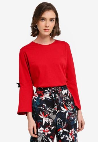 Mango red Bow Cotton T-Shirt B9834AA42A2F3DGS_1