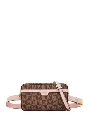 BONIA pink Blush Pink Mauriuccia Monogram Belted Bag F2069ACEB0962CGS_1