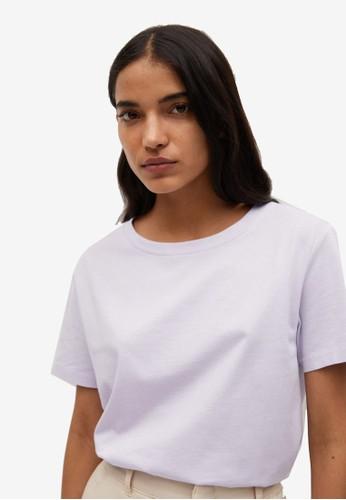 Mango purple Organic Cotton Essential T-Shirt 126E2AAE77FD32GS_1