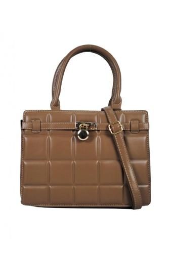 Kimbel International brown BCA8885 Handbag with Sling 473ABACBEBE088GS_1