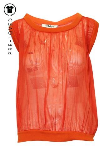 Chloé orange Pre-Loved chloé Orange Transparent Top 1DFEFAA34031BCGS_1