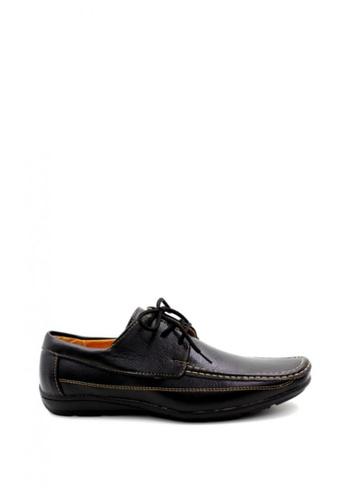London Fashion black 2007-28 Leather Shoes LO229SH21ZKWPH_1