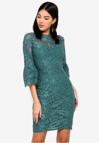 Paper Dolls green Sage Lace Dress 3BE9BAAE6A5DF4GS_1