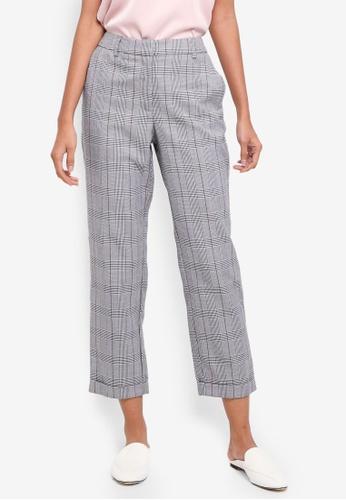 Vero Moda black Checkered Pants 4E816AA07FD7E1GS_1