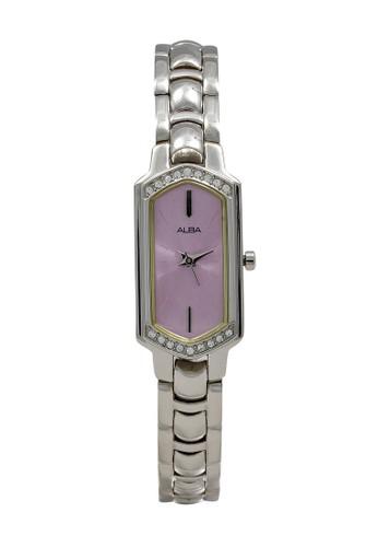 Alba silver ALBA Jam Tangan Wanita - Silver Pink - Stainless Steel - AC3P71 DECF0AC8FF4B50GS_1