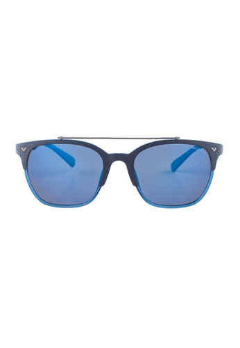 Police blue POLICE Game 5 Wayfarer Blue Polarized Sunglasses SPL161 PO706AC24OWTMY_1