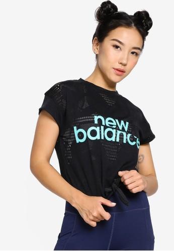 New Balance black Achiever Collide Open Mesh Tee AB798AA05E3E2FGS_1