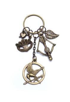 Heart Mask Mockingjay Bow and Arrow Leaf Bag Charm Key Chain