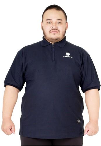 Tiento Tiento Polo Shirt Big Size True Basic HDC Navy Baju Kaos Kerah Ritsleting Lengan Pendek Jumbo 544D0AAEC79B39GS_1