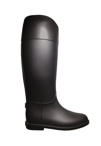 Twenty Eight Shoes 黑色 腳形線條的高筒雨靴 VR81 2C969SHC9DEF22GS_1
