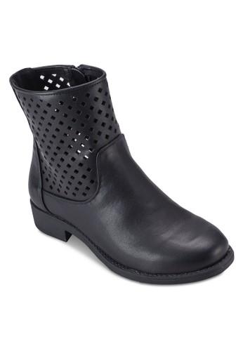 沖孔高筒esprit官網踝靴, 女鞋, 鞋