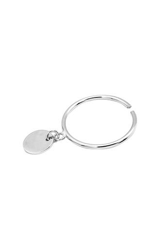 LYCKA silver LDR1220 S925 Silver Minimal Circle Plate Ring 12C1FAC3A9AB77GS_1