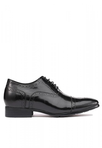 Kings Collection black Santoni Brogues With High Heel (3 inches) 211E2SH25D2F0EGS_1