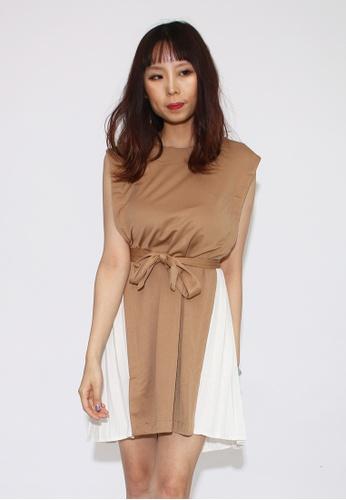 Seoul in Love white and beige Rean Dress 20E96AAD5B72D6GS_1