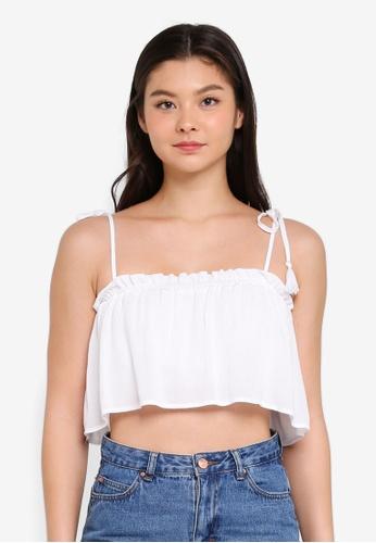 Supre white Tie Shoulder Crop Top FBD7CAA5353FF4GS_1