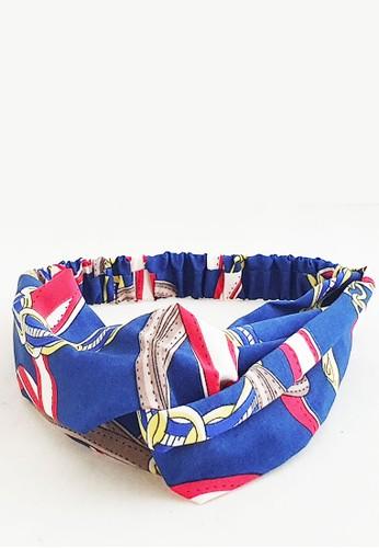 San Marco blue and multi Twisted Headband Ribbons Blue 6383DBE0B969EFGS_1