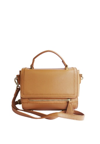 LIVLOLA brown Lushia Top Handle Crossbody bag in brown LI657AC0SBS7MY_1