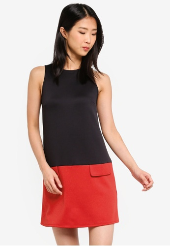 ZALORA BASICS multi Basic Colourblock Shift Dress 03D00AAFD87102GS_1