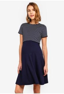 c45f8f5a6db6f Shop Seraphine Nadia Nautical Maternity Stripe Nursing Dress Online ...
