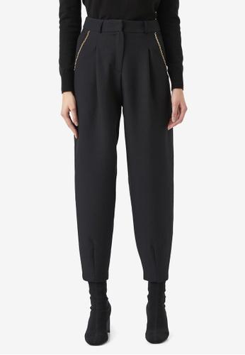 KOTON black Chain Trousers 0BF0FAA7697552GS_1