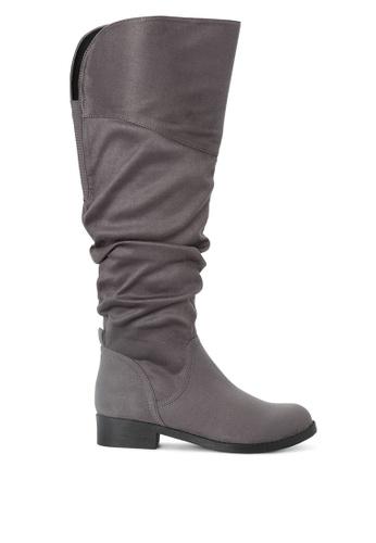 London Rag 灰色 及膝长统靴 SH1732 34220SHC5DA9A1GS_1