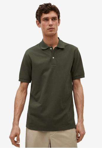 MANGO Man green Technical Cotton Piqué Polo Shirt 13253AA9A68566GS_1