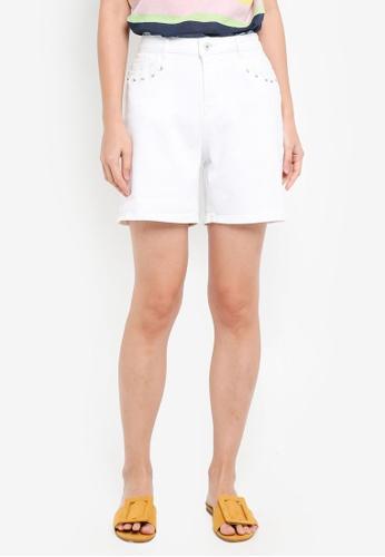 ESPRIT white Denim Shorts 5E8A8AAD0020CDGS_1