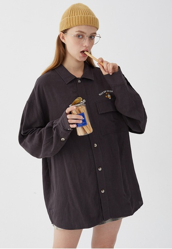 Twenty Eight Shoes Vintage Embroidered Pocket Long Shirt HH0913 6F6F6AAAEE2CB8GS_1