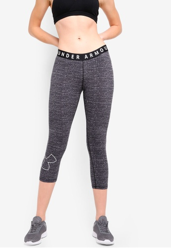 Under Armour black Favorite Graphic Crop Logo Capris 82A42AACBD10FDGS_1
