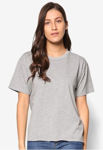 Nibbled esprit china純棉圓領Tee, 服飾, T恤