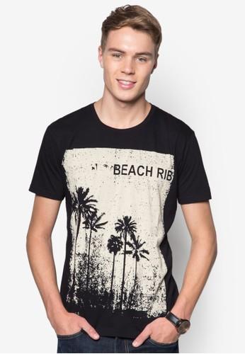 Donald 沙灘印花TEE, esprit旗艦店服飾, T恤