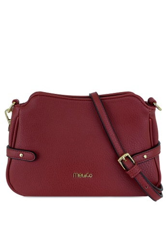 Mel&Co red Faux Leather Sling Bag 2D51FAC2CE3CD8GS_1