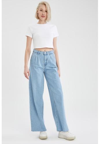 DeFacto blue High Waist Wide Leg Jeans 10A0BAA99E8C79GS_1