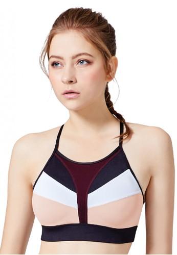Mollifix black and white and pink MOLLIFIX- Spaghetti Strap Sports Bra - White+Pink FD631AA5226E98GS_1