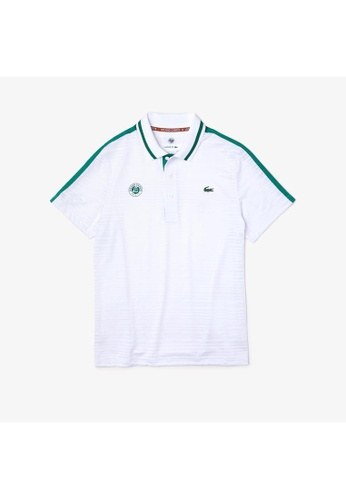 Lacoste white Men's Lacoste SPORT French Open Edition Second-Skin Polo Shirt DB6D7AA8A6D0F7GS_1