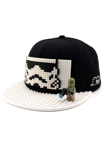 DOSSCAPS black and white BRICKBRICK Stormtrooper Basic Cap - Black White (Small) DO290AC58NGBMY_1