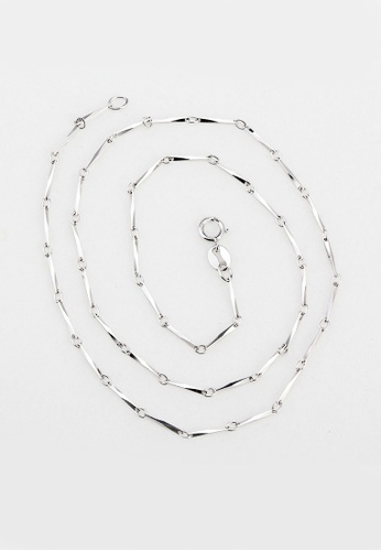 OUXI silver OUXI 925 Sterling Silver Chains Necklace – Y40010 OU821AC79KNKMY_1