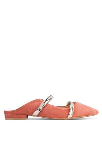 ZALORA pink Double Strap Mule Flats 8A320SHD64B35BGS_1