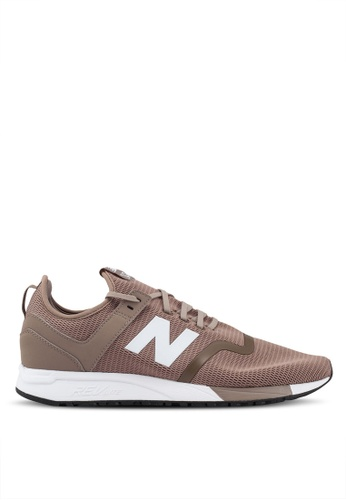 New Balance brown and beige 247 Lifestyle Essential Pack Shoes 8DC14SH63F4F65GS_1