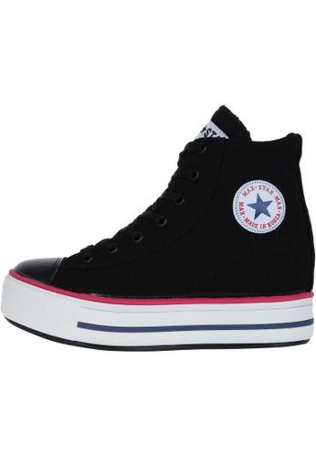 Maxstar 黑色 新款韩国鞋C2-Line時尚帆布布混合女黑色 US Women Size MA345SH25HDUTW_1