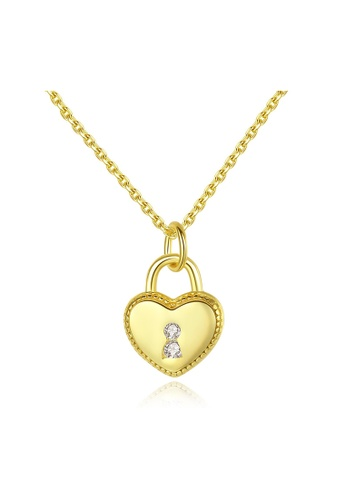 SUNRAIS gold Premium Silver S925 Gold Heart Necklace 465F0ACFFDFDFCGS_1