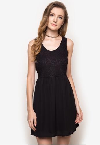 Twenteen black Belinda Sleeveless A-Line Dress TW408AA31MSAPH_1