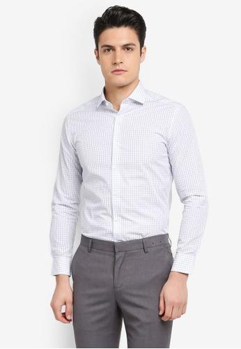 G2000 blue Checked Long Sleeve Shirt 0D11FAA961FCA4GS_1