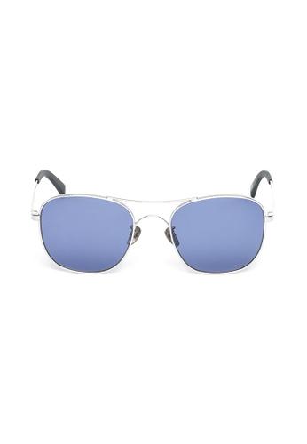 OBX silver OBX Square Aviator-style Sunglasses 8E83DGL01AC1FEGS_1