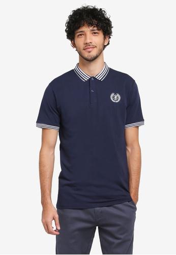 Fidelio 海軍藍色 短袖休閒POLO衫 BD6B3AABA4A35EGS_1